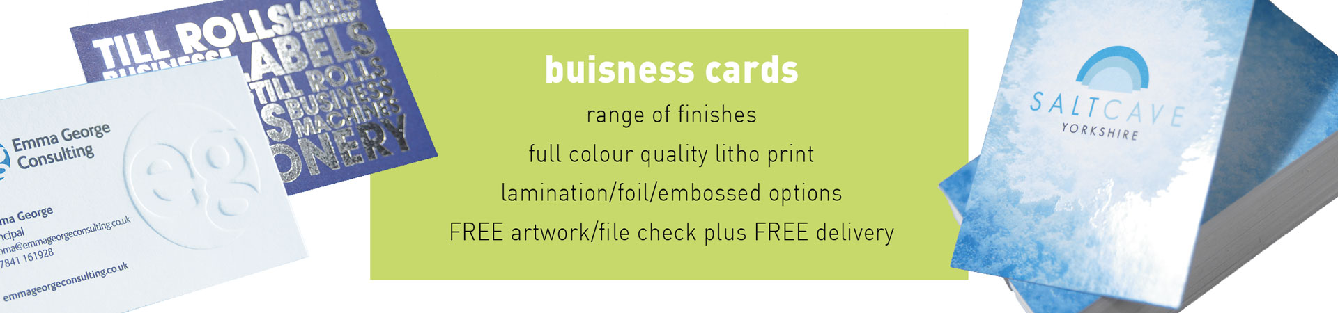 Arrow Print Business Cards