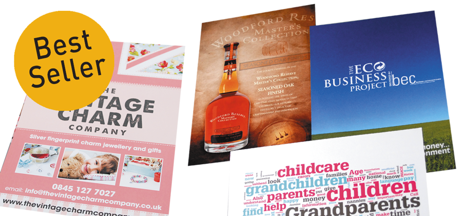 Arrow Print A5 leaflets