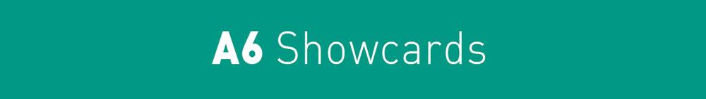 Arrow Print A6 Showcards title