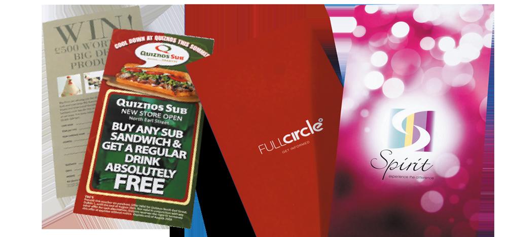 Arrow Print DL leaflets