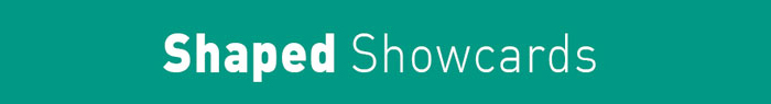 Arrow Print Shaped Showcard title