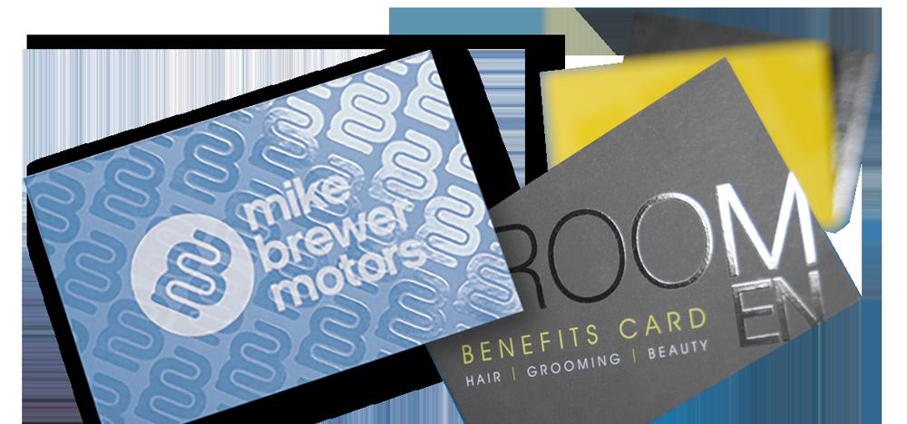 Arrow Print Spot UV business cards