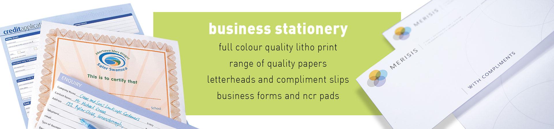 Arrow Print Business Stationery Slider