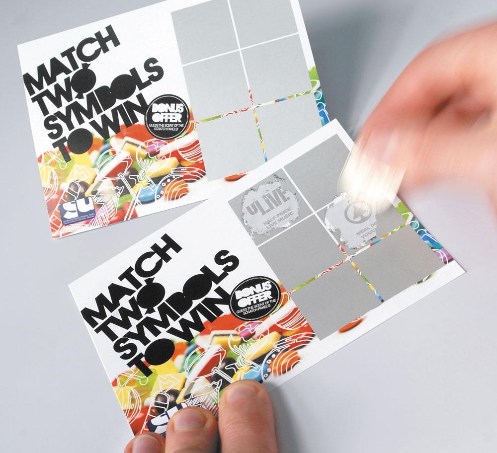 Arrow Print Scratch Cards