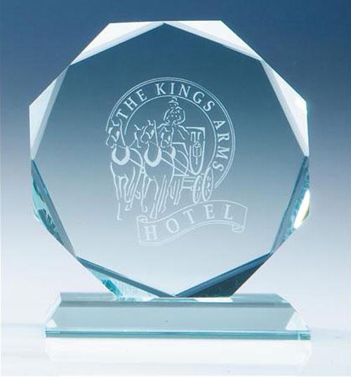 Arrow Print Crystal Awards