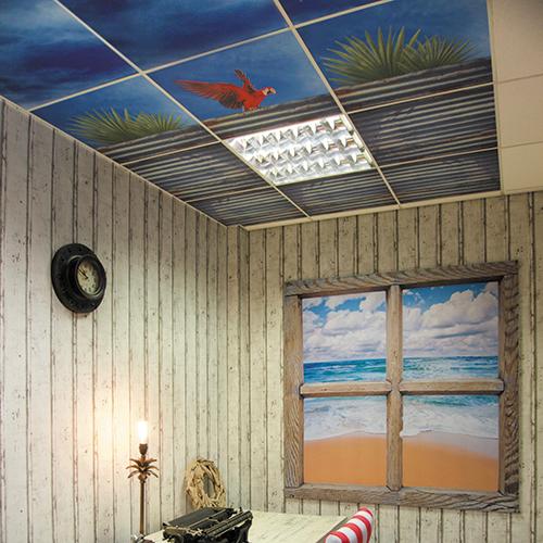 Arrow Print Printed Ceiling Tiles